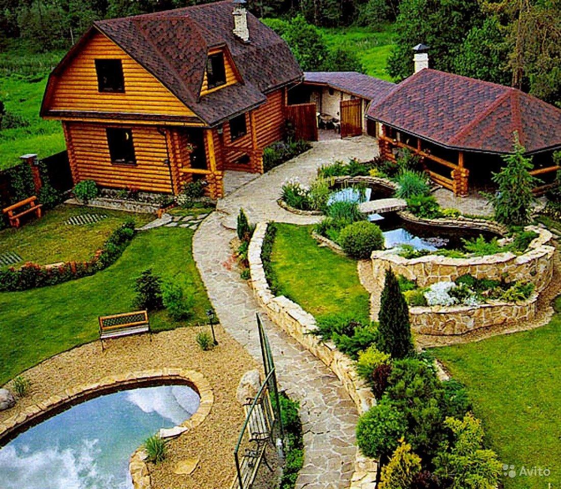 Фото ландшафтного дизайна с баней