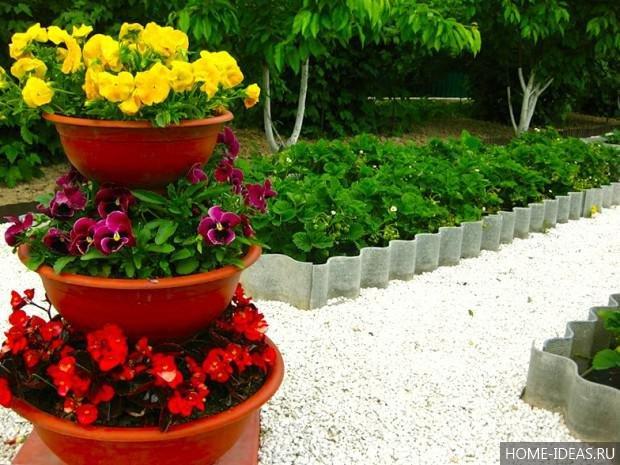 Клумбочки для цветов своими руками 4