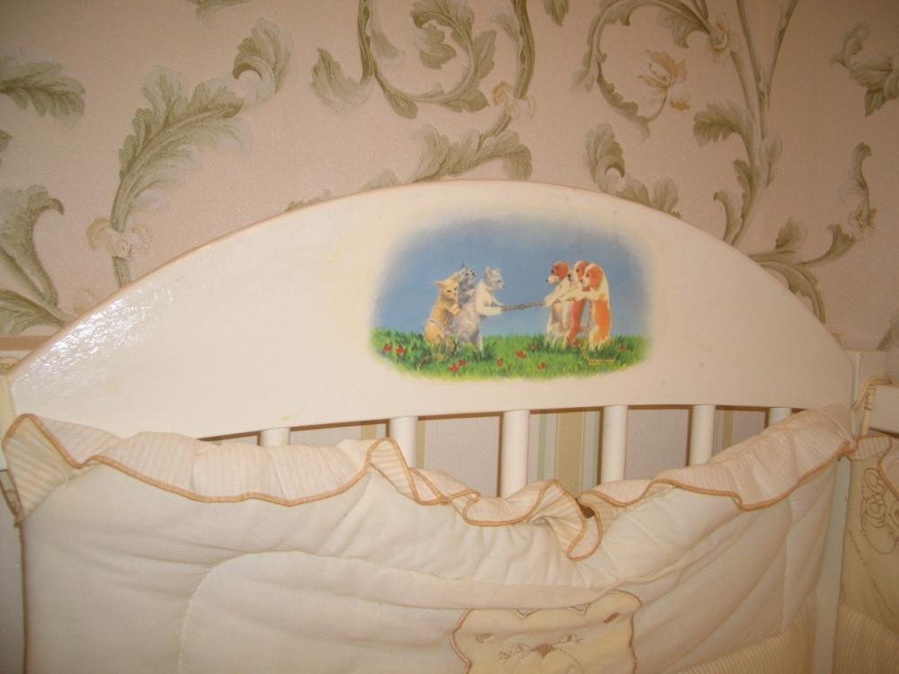 Декупаж старой кровати для девочки своими руками 39