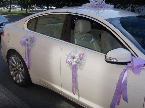 Украшения на машину на свадьбу своими руками  403