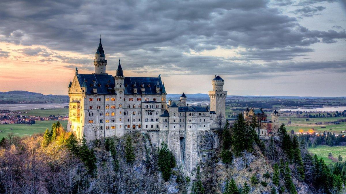 Замок швейцария вечер  № 2569346 без смс