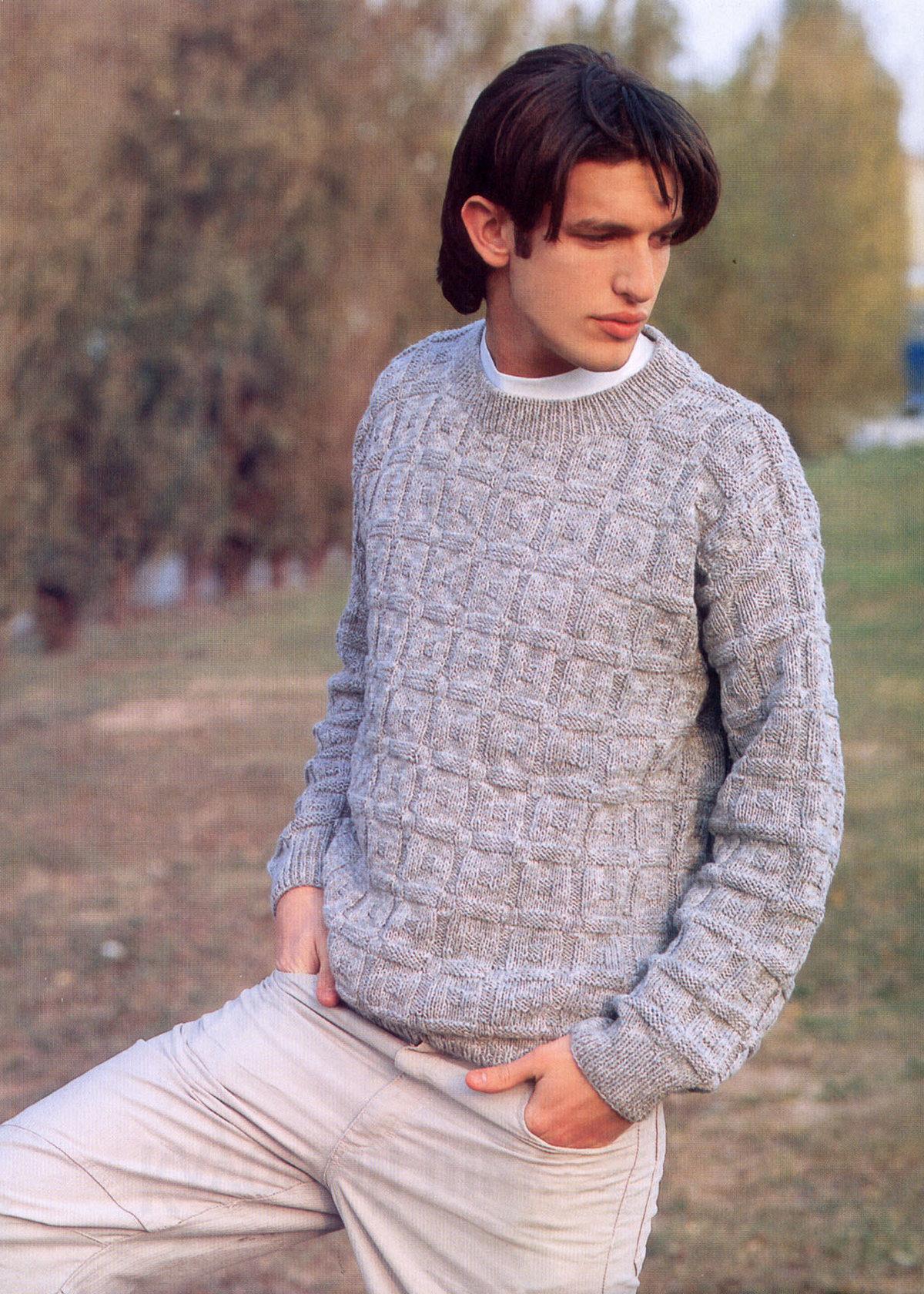 Джемпер. вязание для мужчин 703
