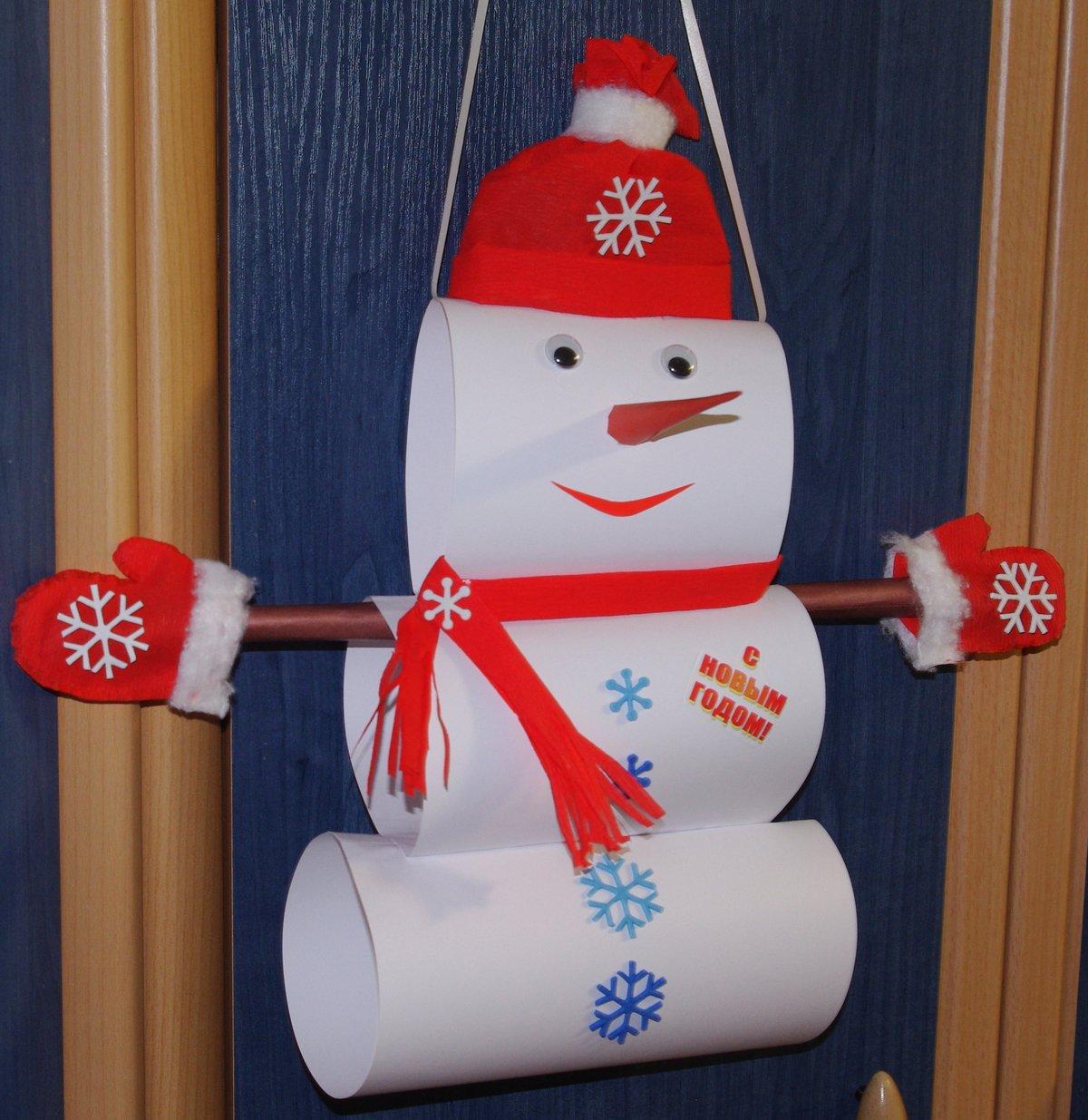 Поделка снеговик своими руками для детского