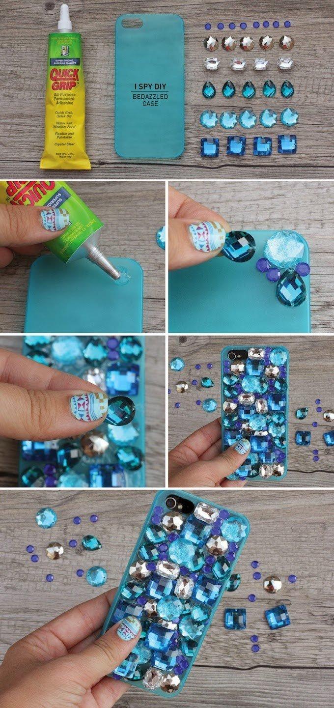 Как красиво украсить чехол для телефона