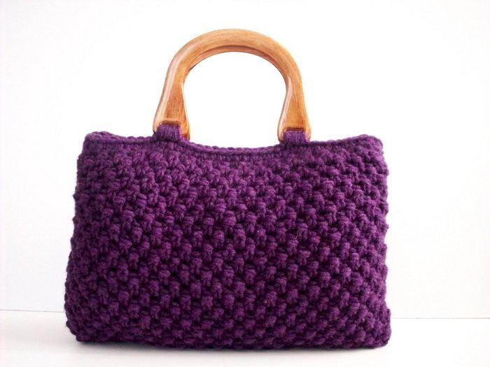Вязание спицами женские сумки 46