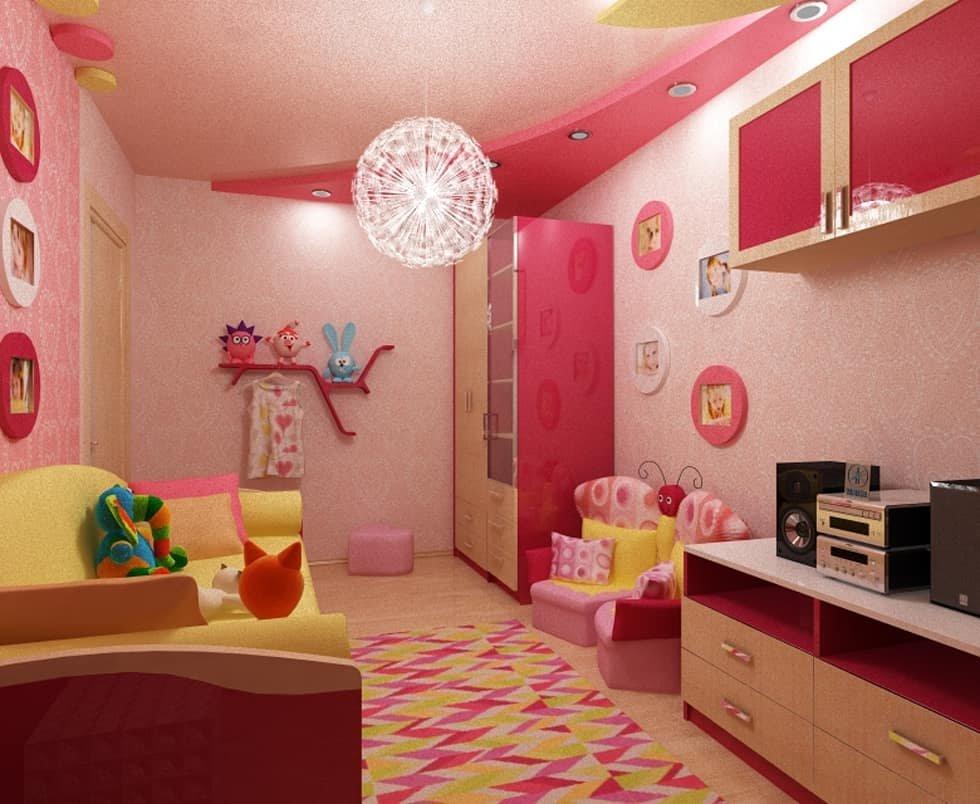 Фото дизайн интерьер детская для девочки