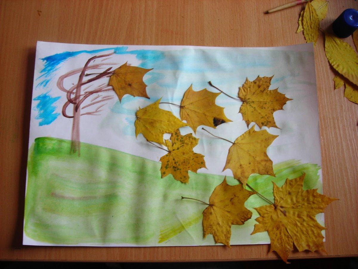 Простые поделки в садик осенью