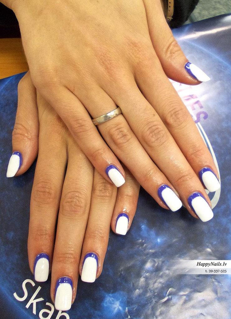Дизайн ногтей френч наоборот
