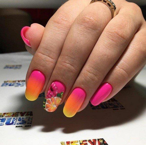 Яркие летние ногти 2017-2018