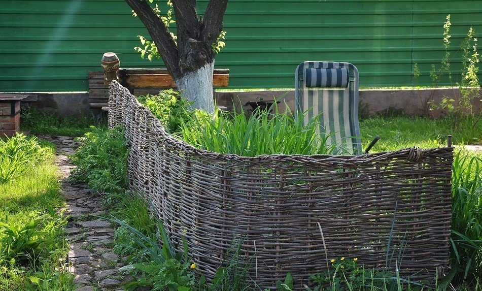 Ландшафтный дизайн плетение