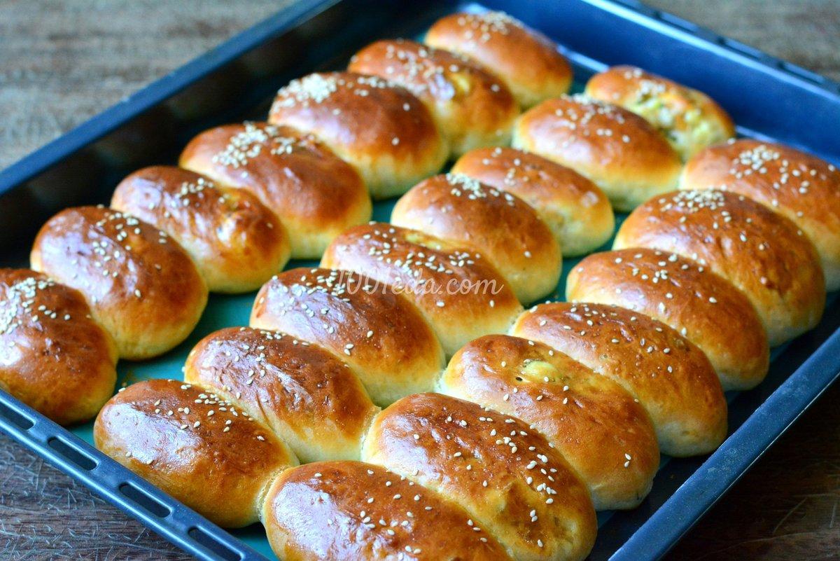 Пирожки с мясом в духовке, пошаговый рецепт с фото 98
