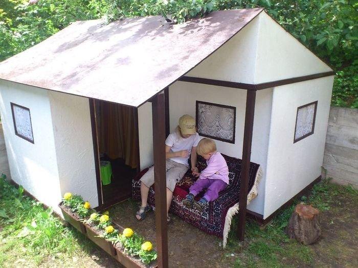 Как построить домик для девочки своими руками 48