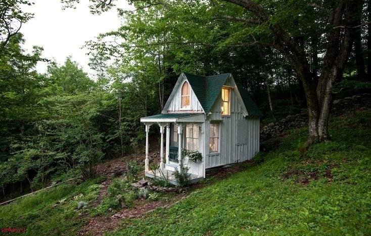 Маленький домик в лесу своими руками 89