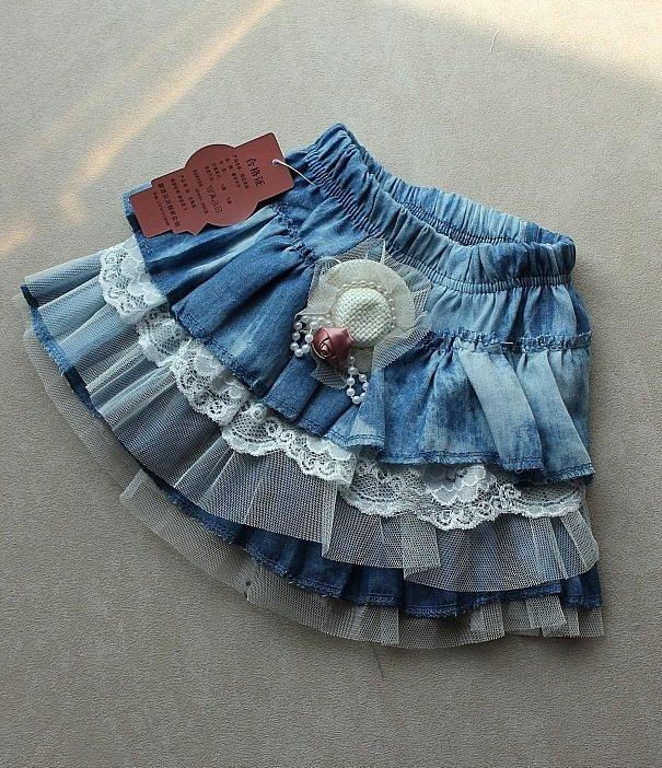 Юбки для девочек из старых джинсов сшить 394
