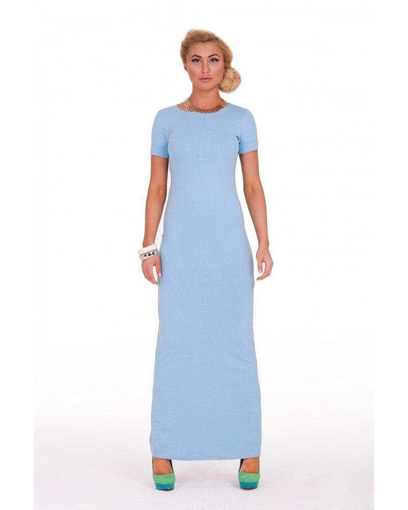Длинное платье из трикотажа своими руками 1