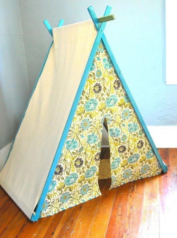 Палатка для ребенка своими руками из ткани 7