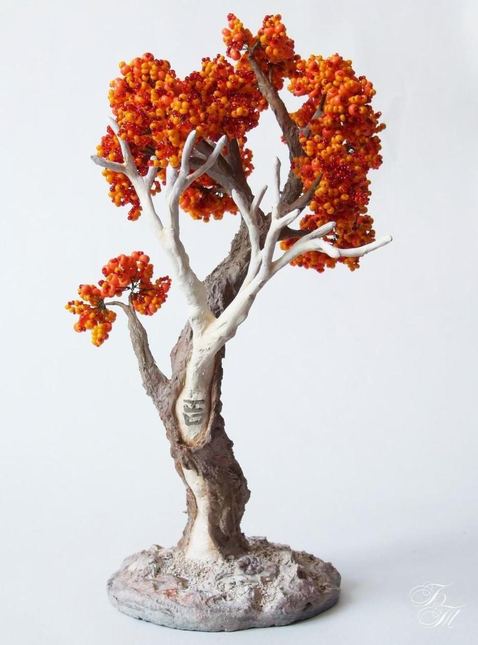 Как сделать стволы деревьев из бисера
