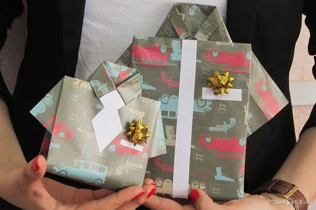 Как упаковать большой подарок мужчине 53