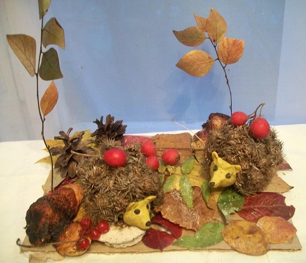 Осенние поделка из природного материала