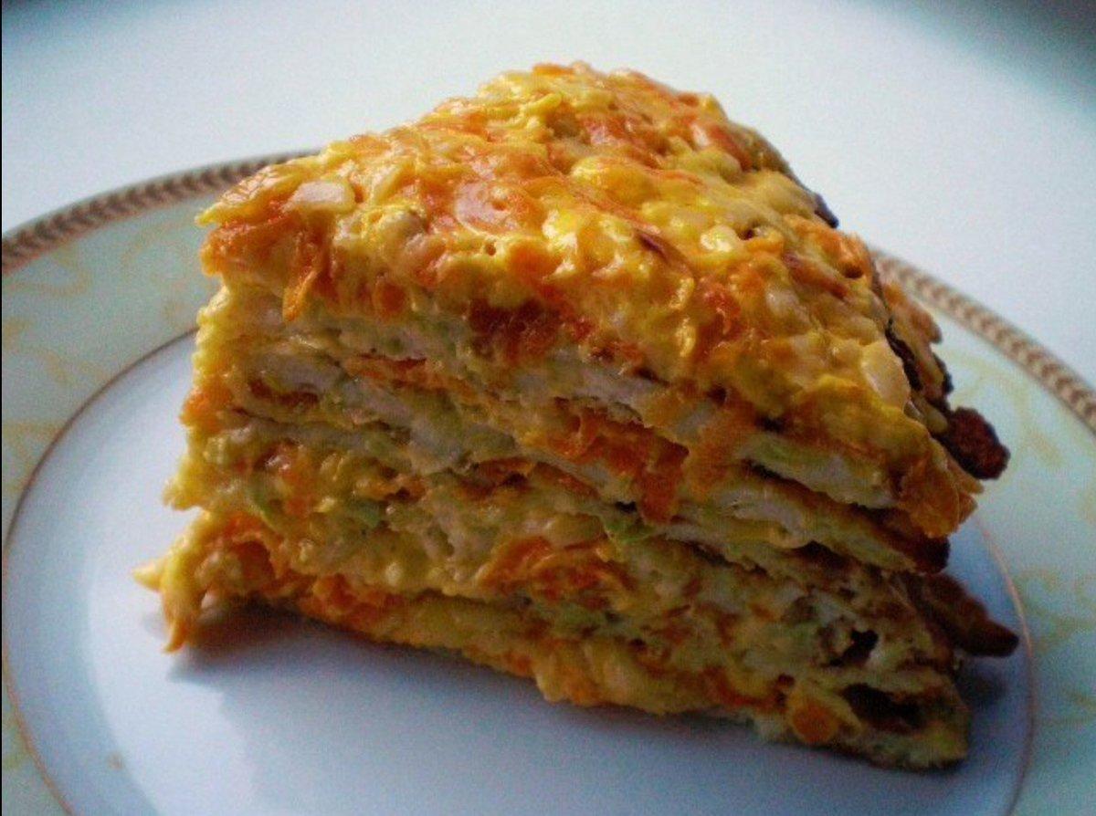 Кабачковый торт с морковью и луком рецепт с фото пошагово 116