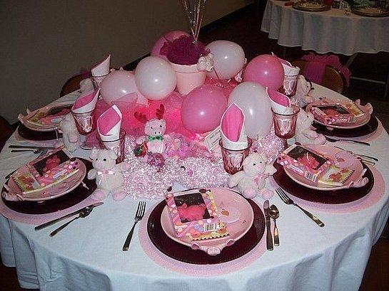 Праздничное украшение стола на день рождения в  139