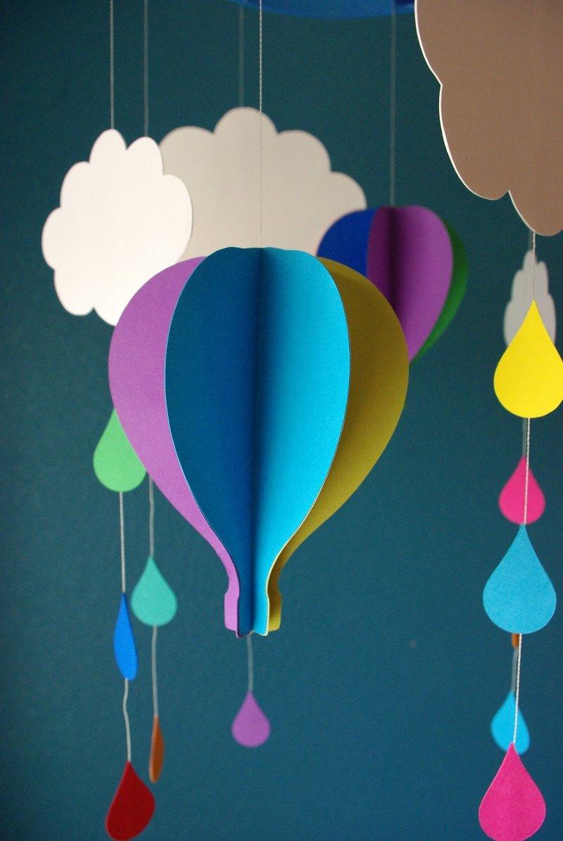 Гирлянда воздушные шары из бумаги своими руками