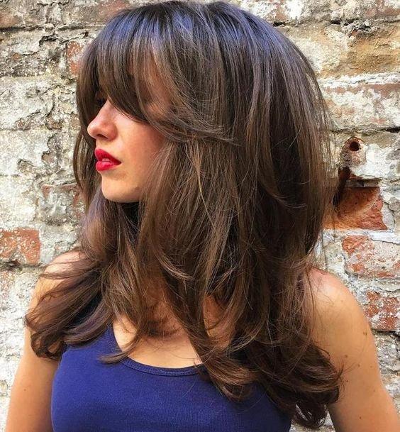 Стрижка каскад на средние волосы каскад 2018 для