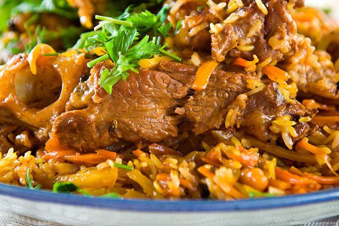 Плов из говядины пошаговый рецепт узбекский в казане