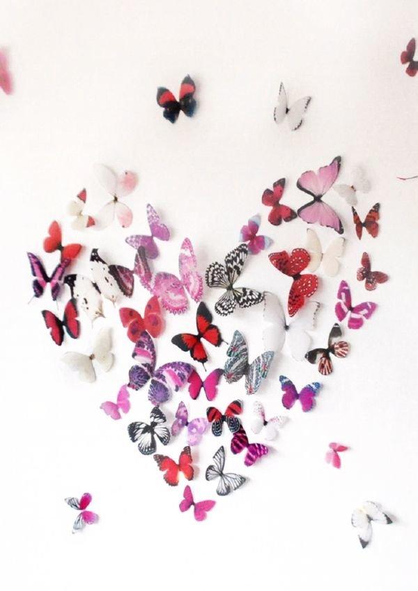 Бабочки на стене своими руками 27
