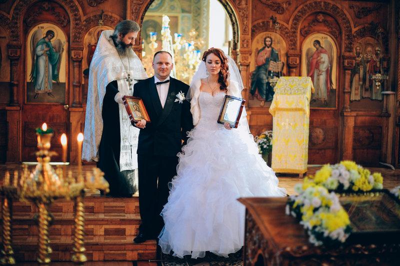 Фотосессия венчание в церкви