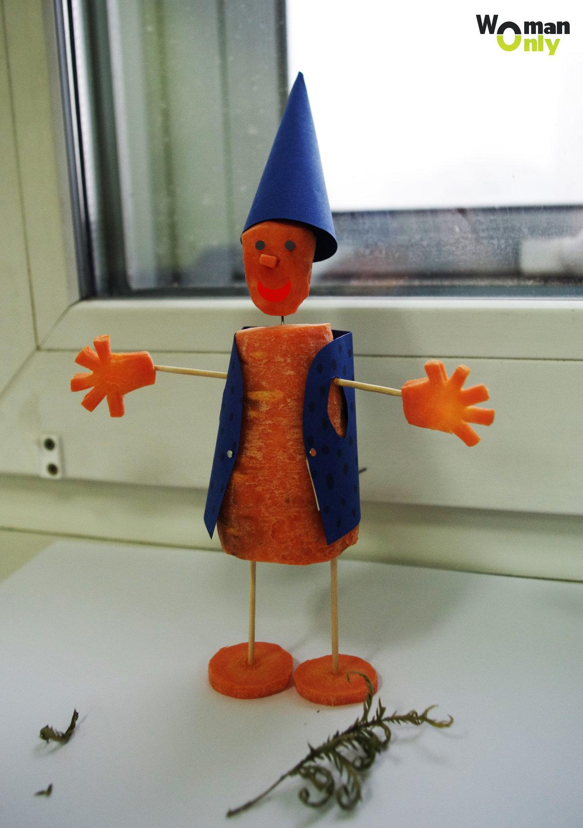 Человек из моркови своими руками