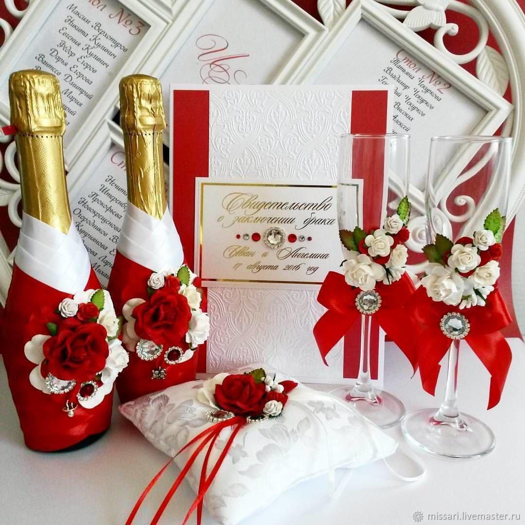 Для свадьбы своими руками бело-красного цвета 341