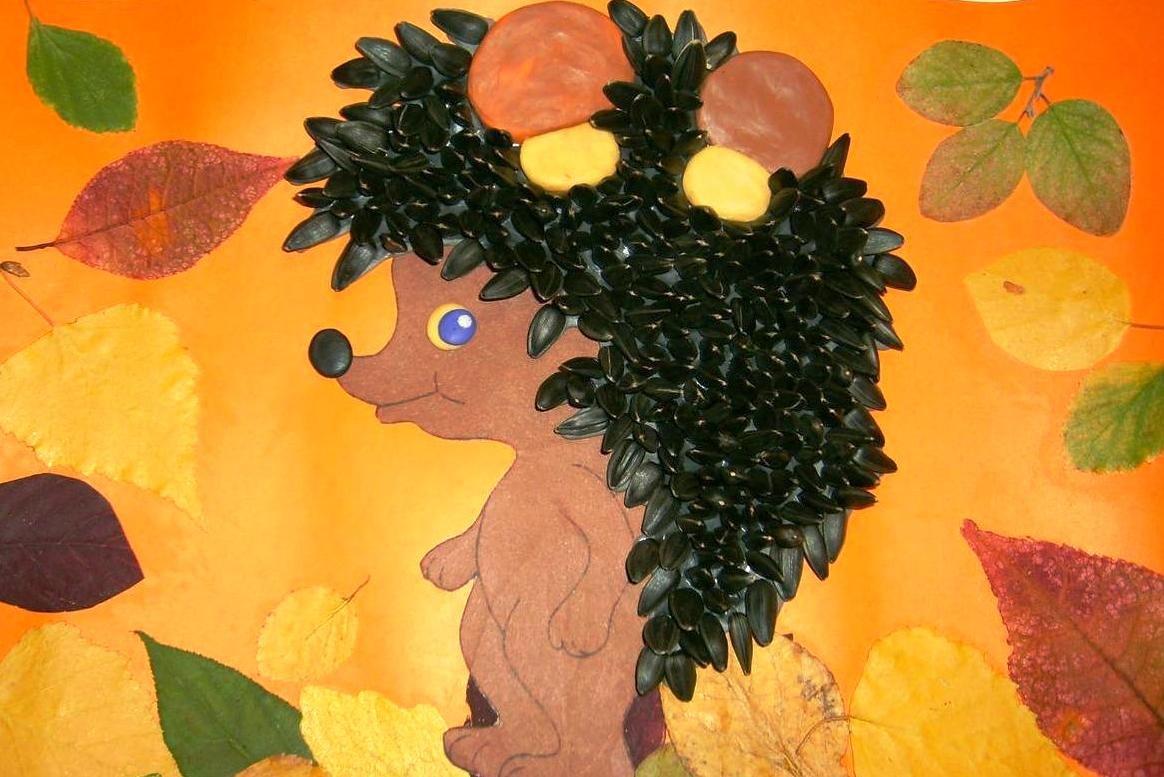 Осенние поделки в школу своими руками из природного материала 76
