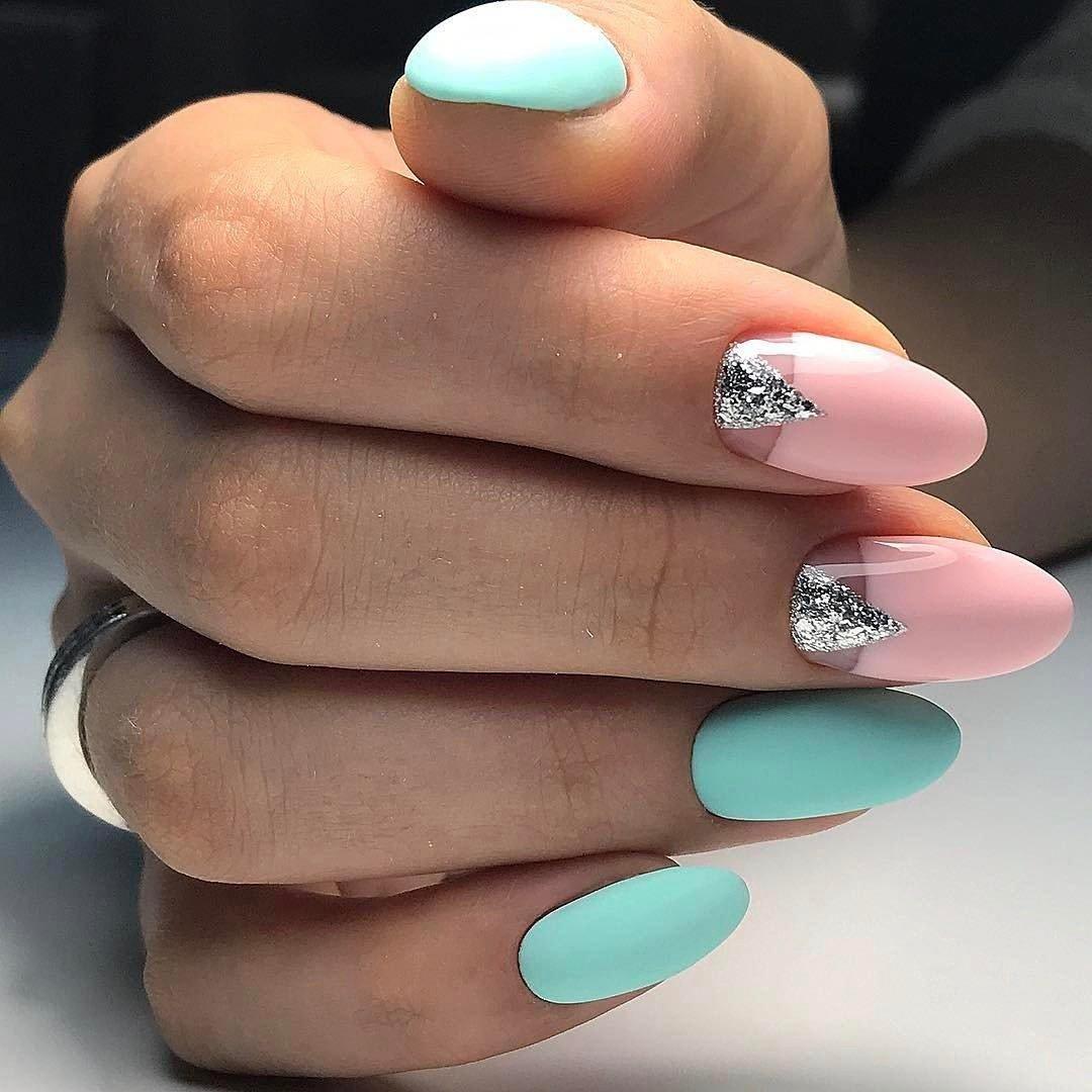 Мятный дизайн ногтей 2017 новинки