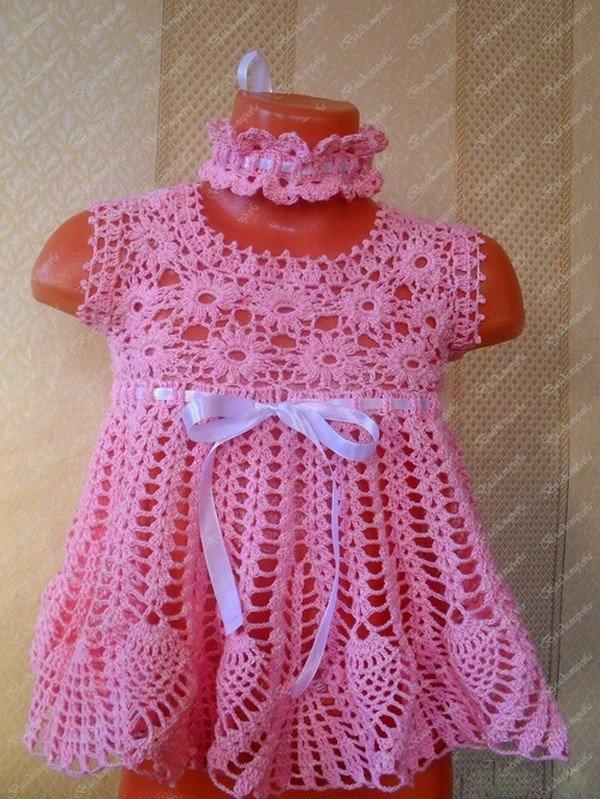 Связать летние платья до года
