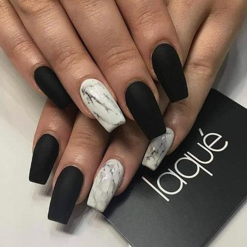 Дизайн на квадратные нарощенные ногти 2018