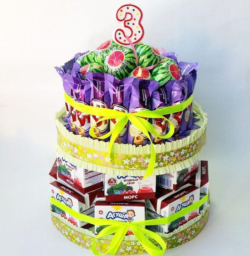 Торт из вкусняшек своими руками на день рождения