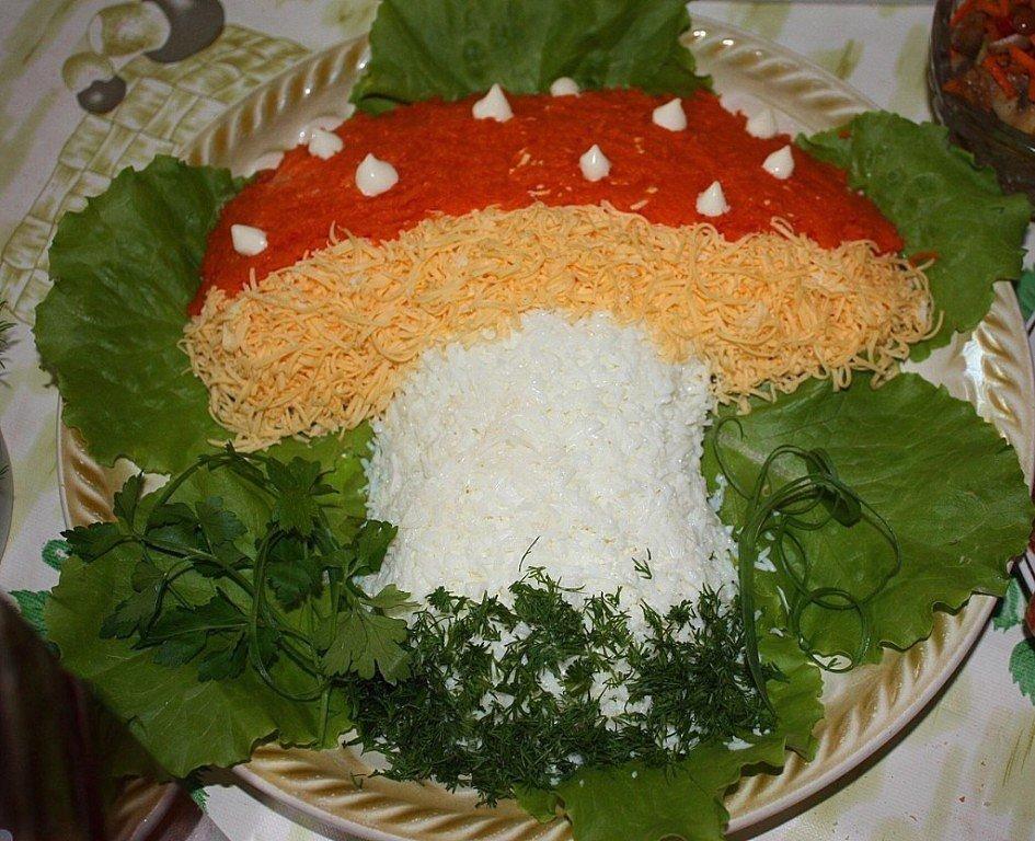 Как сделаю салаты в грибы