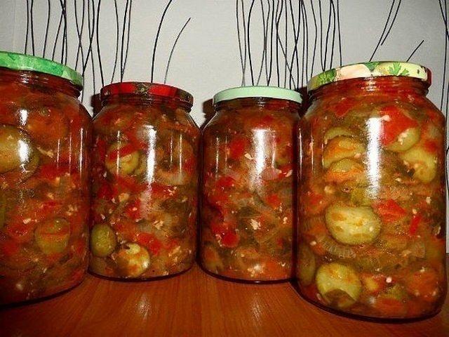 Рецепт на зиму огурцы помидоры болгарский перец