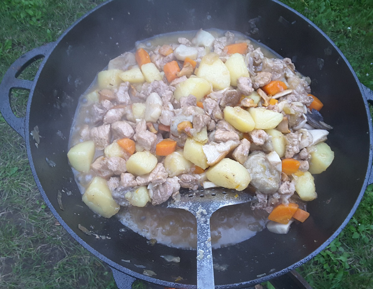Картошка в казане пошаговый рецепт
