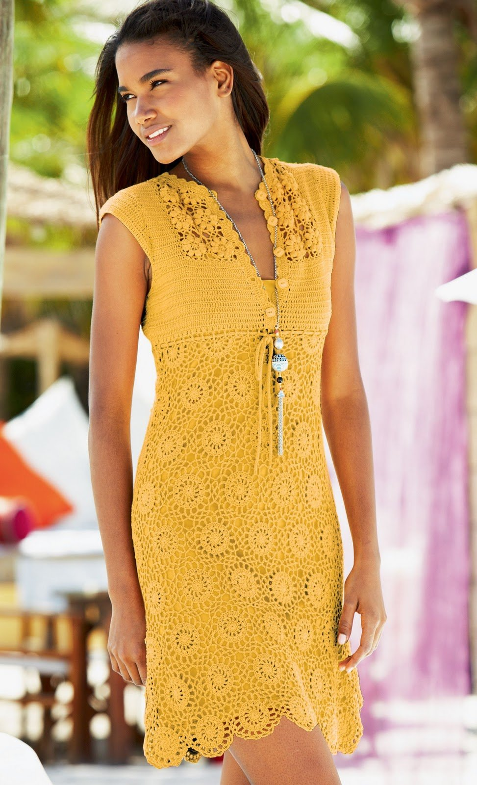 Вязание крючком самые простые платья