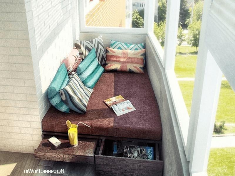 Своими руками кровать на балкон 169