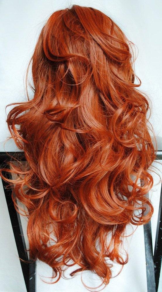 Укладка для длинных рыжих волос 163