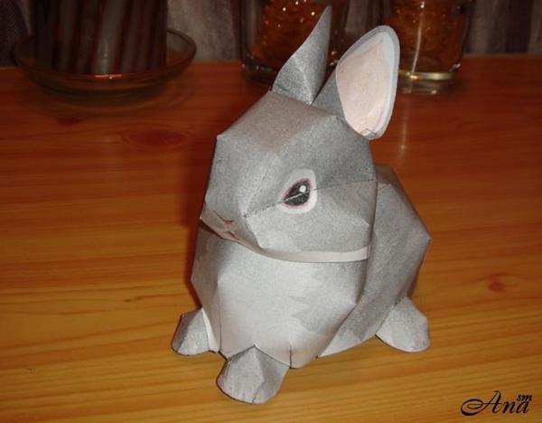 Кролик из бумаги