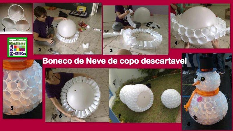 Как сделать снеговик из пластиковых бутылок