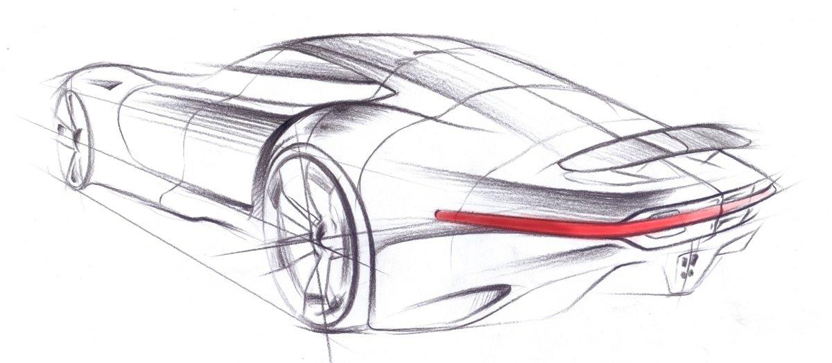 Рисуем автомобиль карандашом