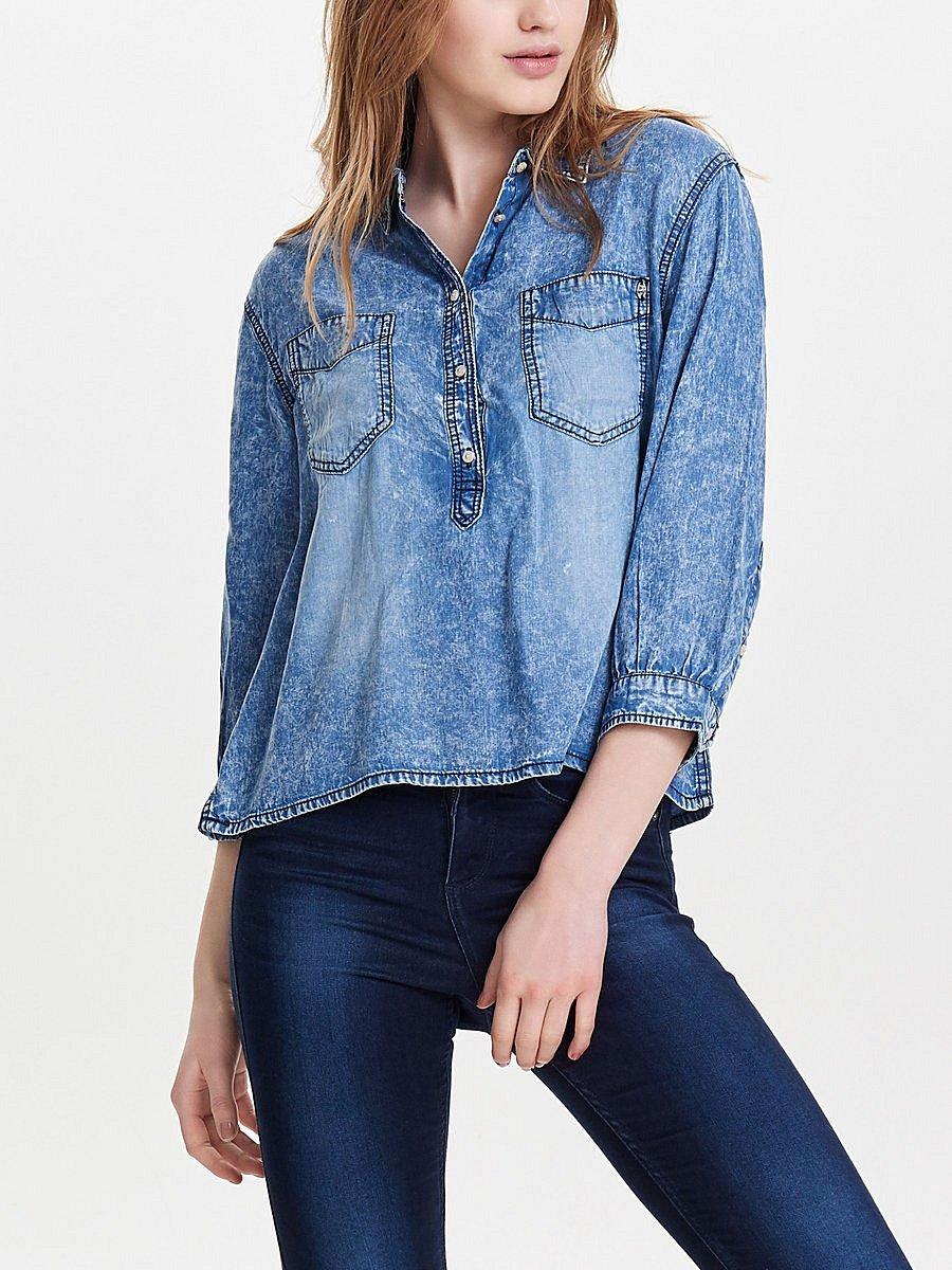 Блуза под джинсы своими руками