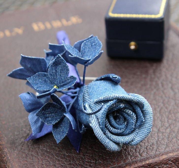 Розы из джинсовой ткани своими руками 34