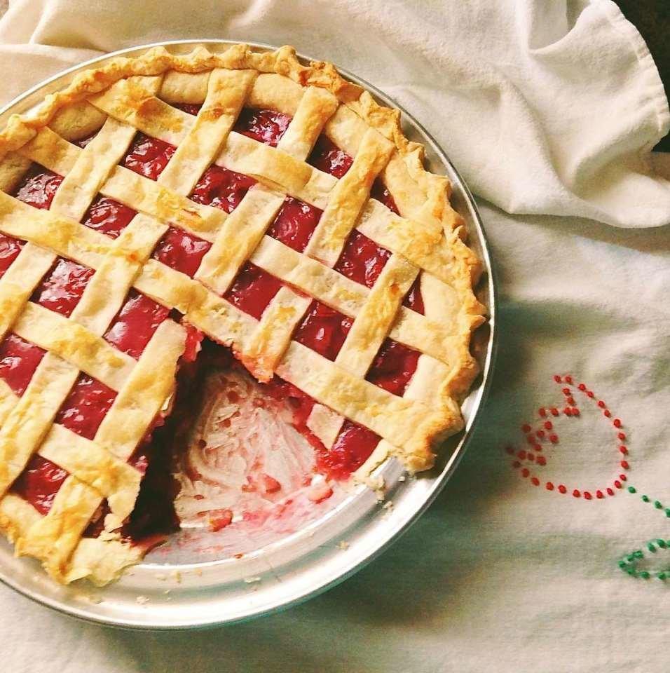 Пирог с вишнями консервированными рецепт с
