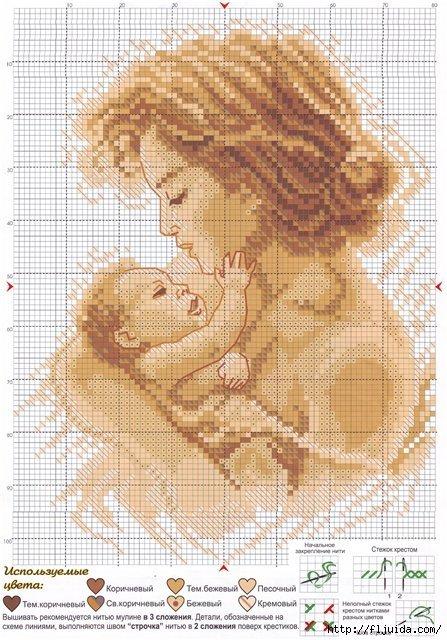 Схемы вышивка крестом с детьми 342